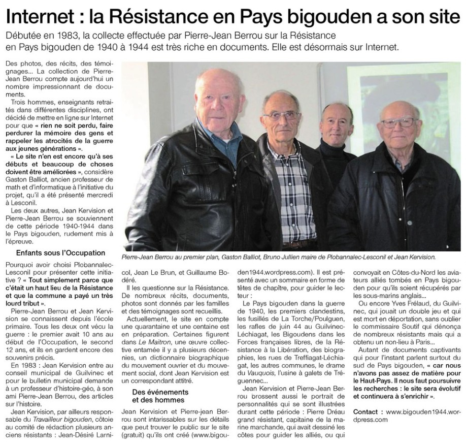 l'article de Ouest-France